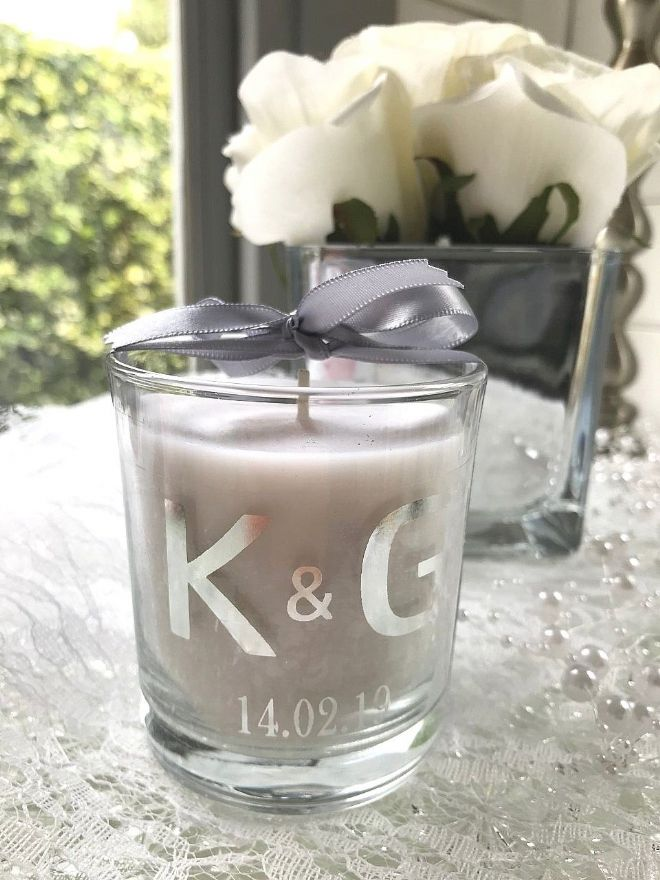 Wedding scented candle